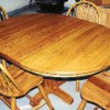 Dining Table and Chairs - Oak    (Table had structural damage as well as terrible water damage to the top.